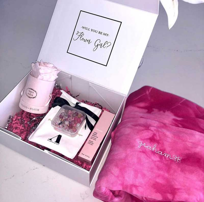 Flower girl proposal box set by Danielle Bernstien as gifts for the littles in your bridal party