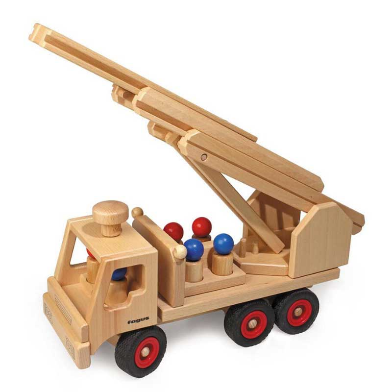 Wooden toy fire truck gift by Bella Luna Toys