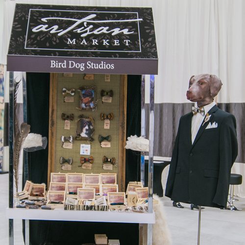 Craft and shop display at the Artisan Market at Unveiled Minneapolis