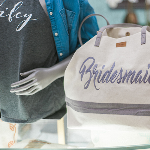 Bridal gifts at the Bespoke Shop at Unveiled Minneapolis