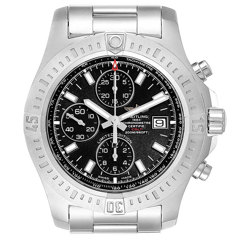 Breitling colt black stainless steel men's watch