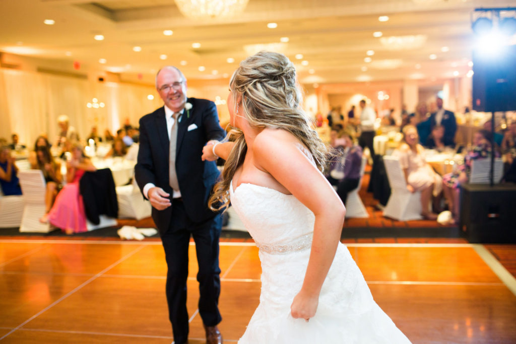 Father and daughter share unique first dance at wedding reception