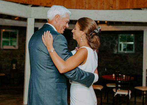Father-daughter dance at Minnesota wedding reception