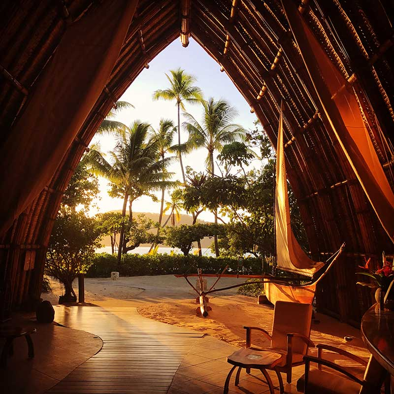 Tropical resort lounge