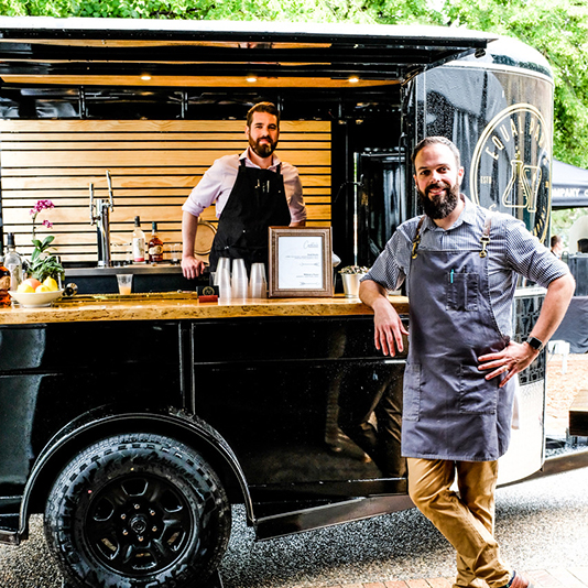 Bar trailer by Equal Parts Cocktail Co.