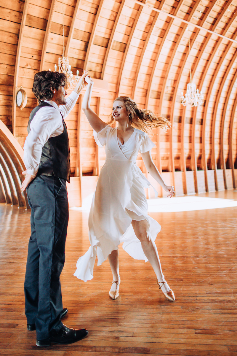 Tulle Tuxedo showing dances you need to learn for your wedding