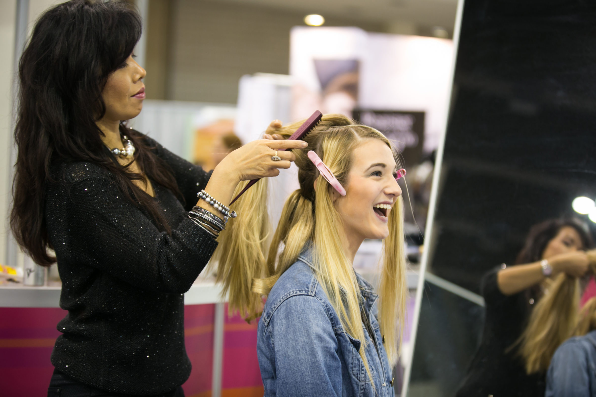 Glam2Go makeover station at Twin Cities Bridal Show