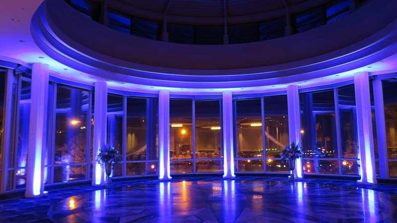 Wedding venue decor lighting