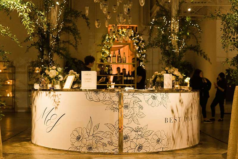 Unique bars at weddings