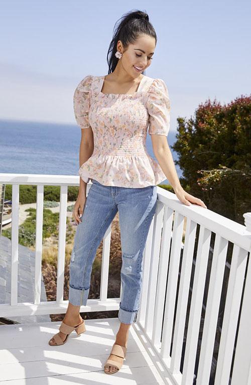 Rachel Parcell blue jeans for bachelorette