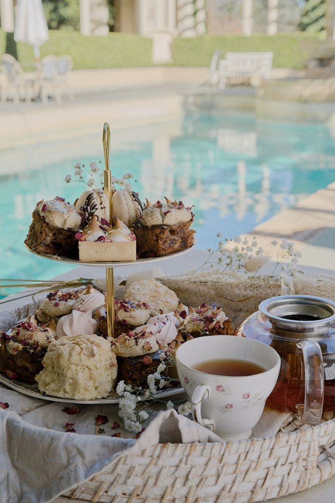 Sophisticated wedding dessert table