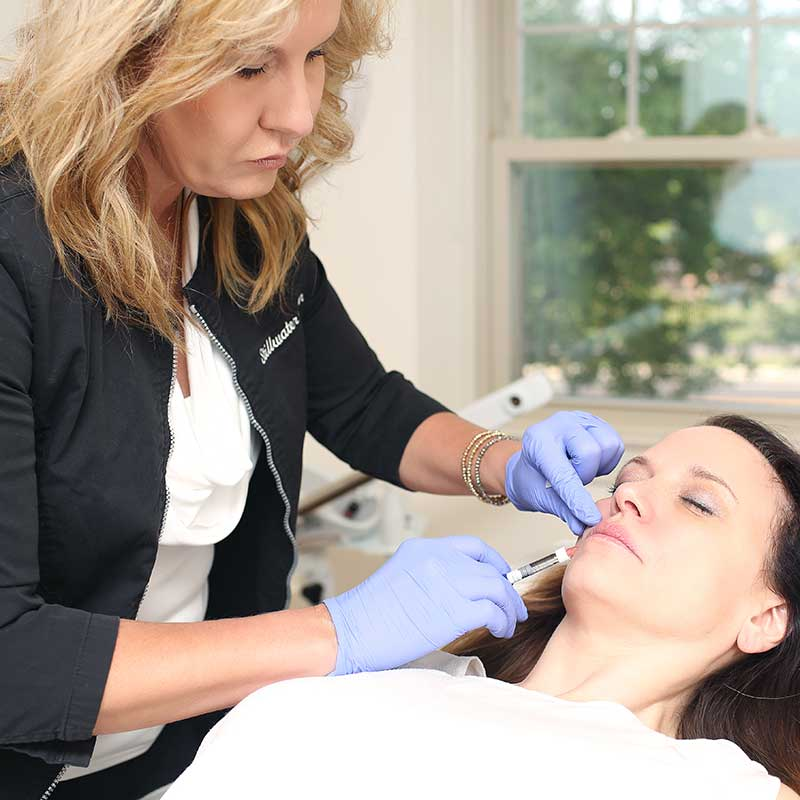 Facial injections at Stillwater Skin and Medical Spa