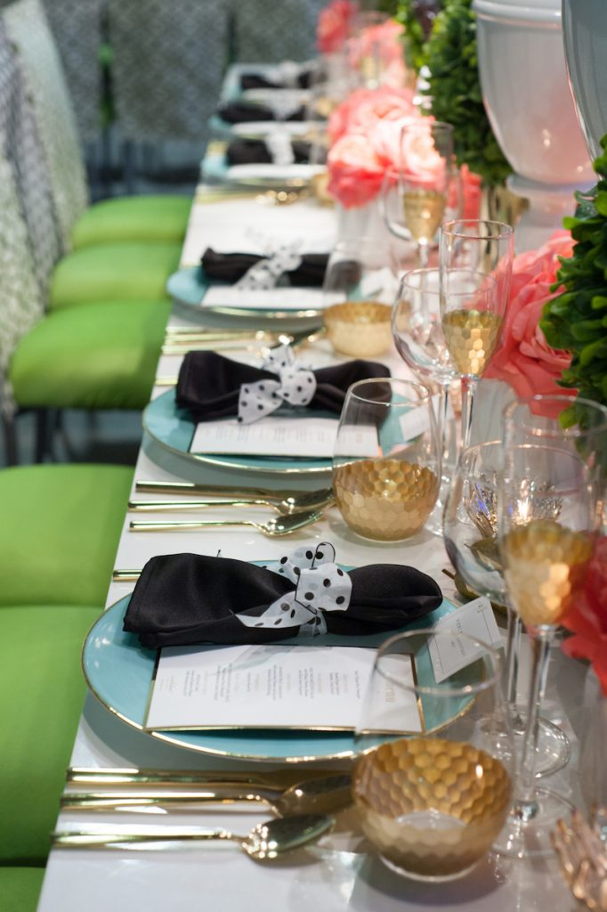 Black and white wedding tabletop