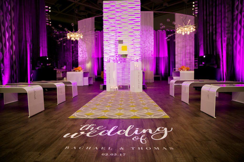 Custom wedding GOBO for aisle