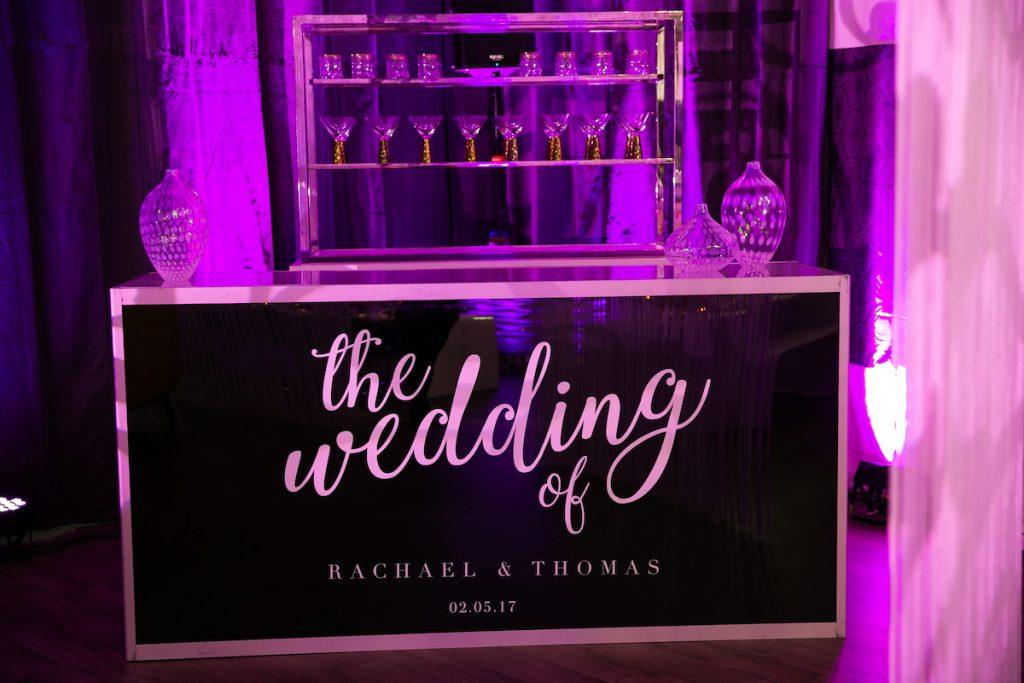 Custom wedding barfront
