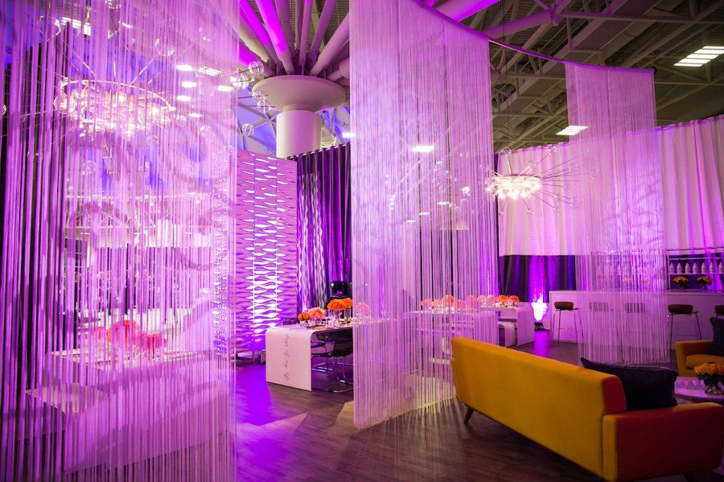 Retro glam wedding lounge