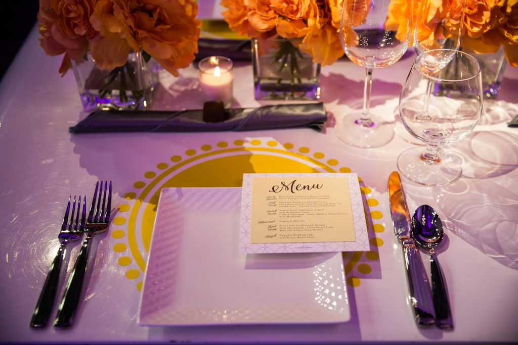 Square wedding reception dinner plate