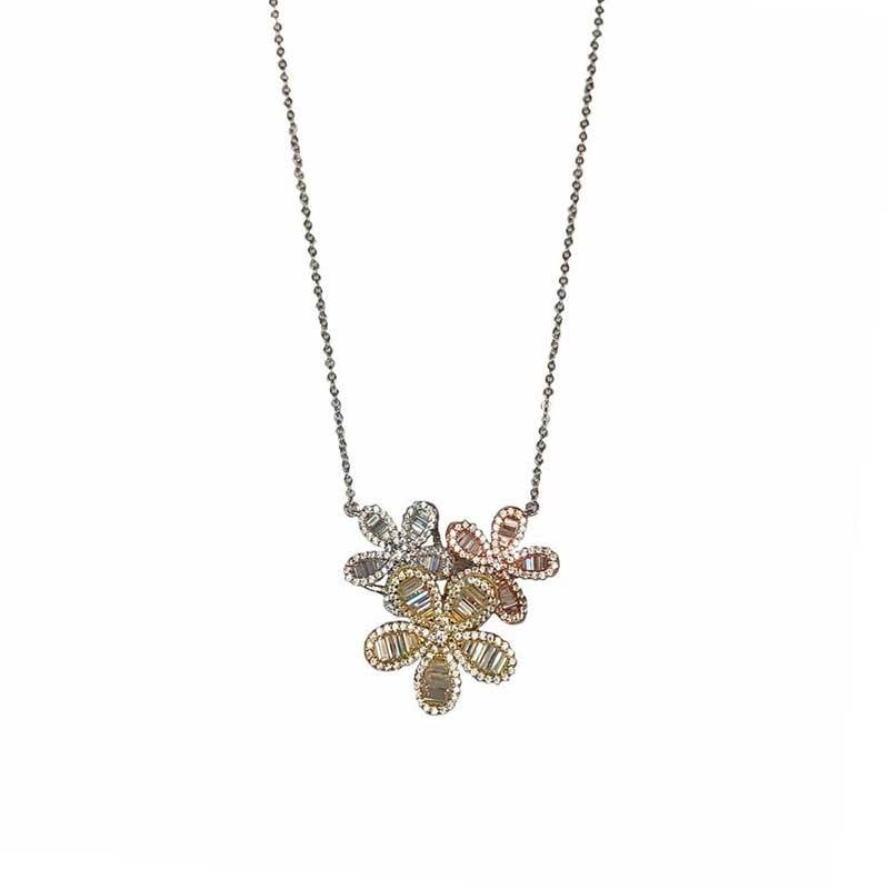 Jewel flower necklace by Jennifer Miller Jewerlry