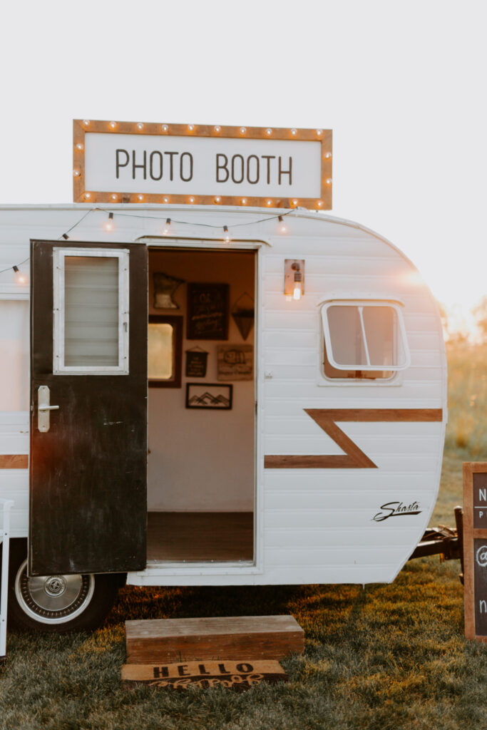 Camper photo booth by Northerly