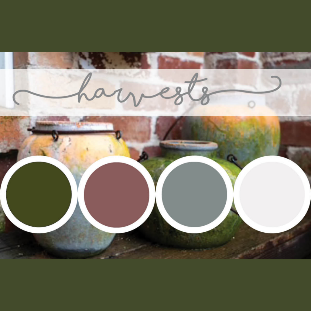 Green fall color palette