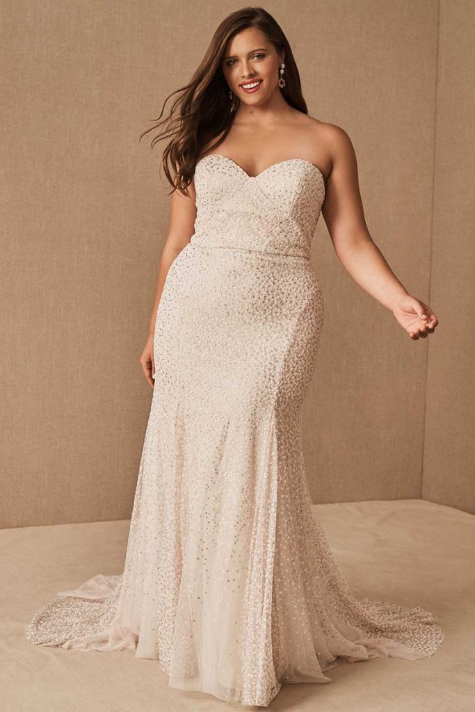 Beaded sparkly Hayley Paige Ricci Gown