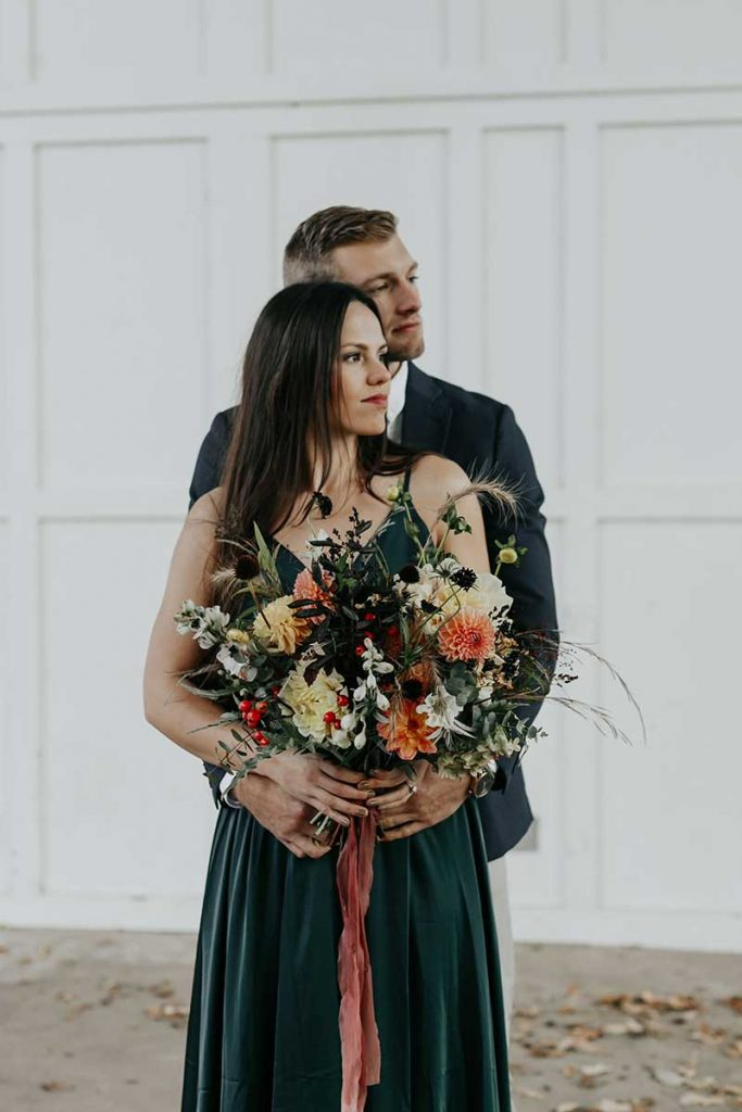 Fall wedding bouquet by bleed heart floral