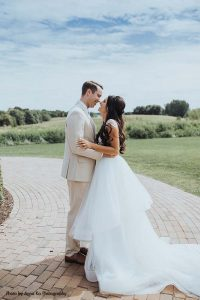 Bride and groom at elegant Minnesota wedding