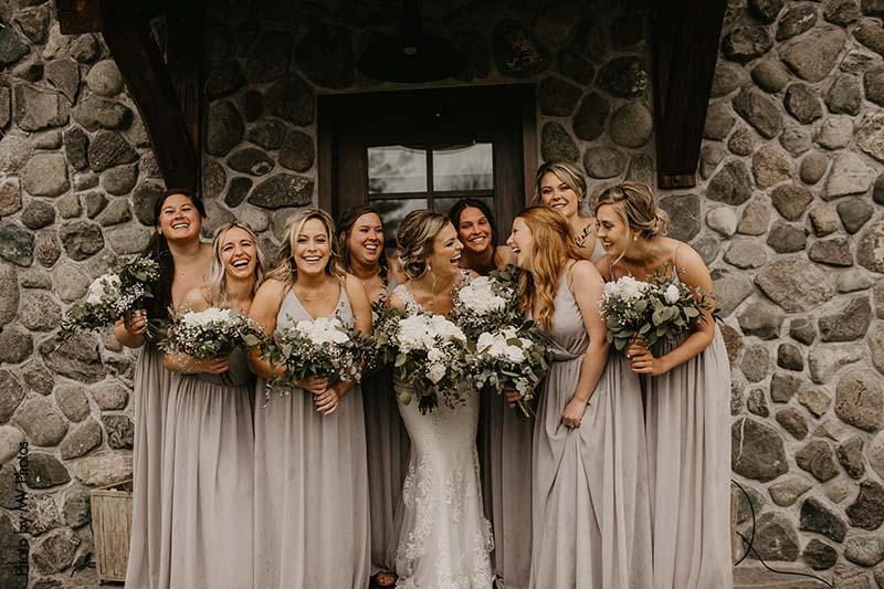 Gray wedding dresses for fall
