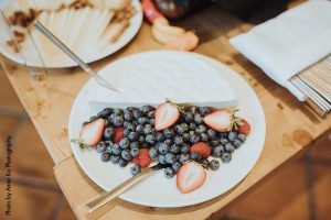 Brie and fruit wedding appetizer by D'amico catering