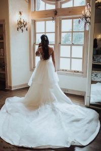 Cathedral length wedding dress train by Berta
