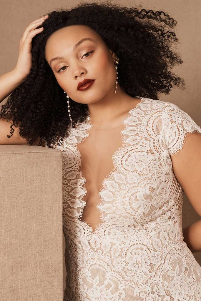 Corded lace cap sleeve Wtoo by Watters Philomene Gown for BHLDN