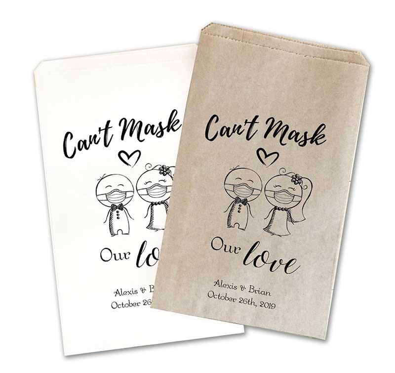 Pandemic wedding favor gift bags