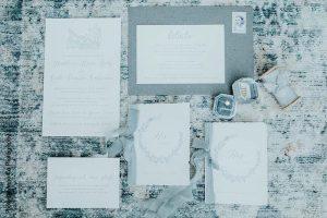 Custom wedding invitations by Jennifer Miller