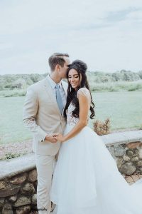 Custom Berta bridal wedding gown