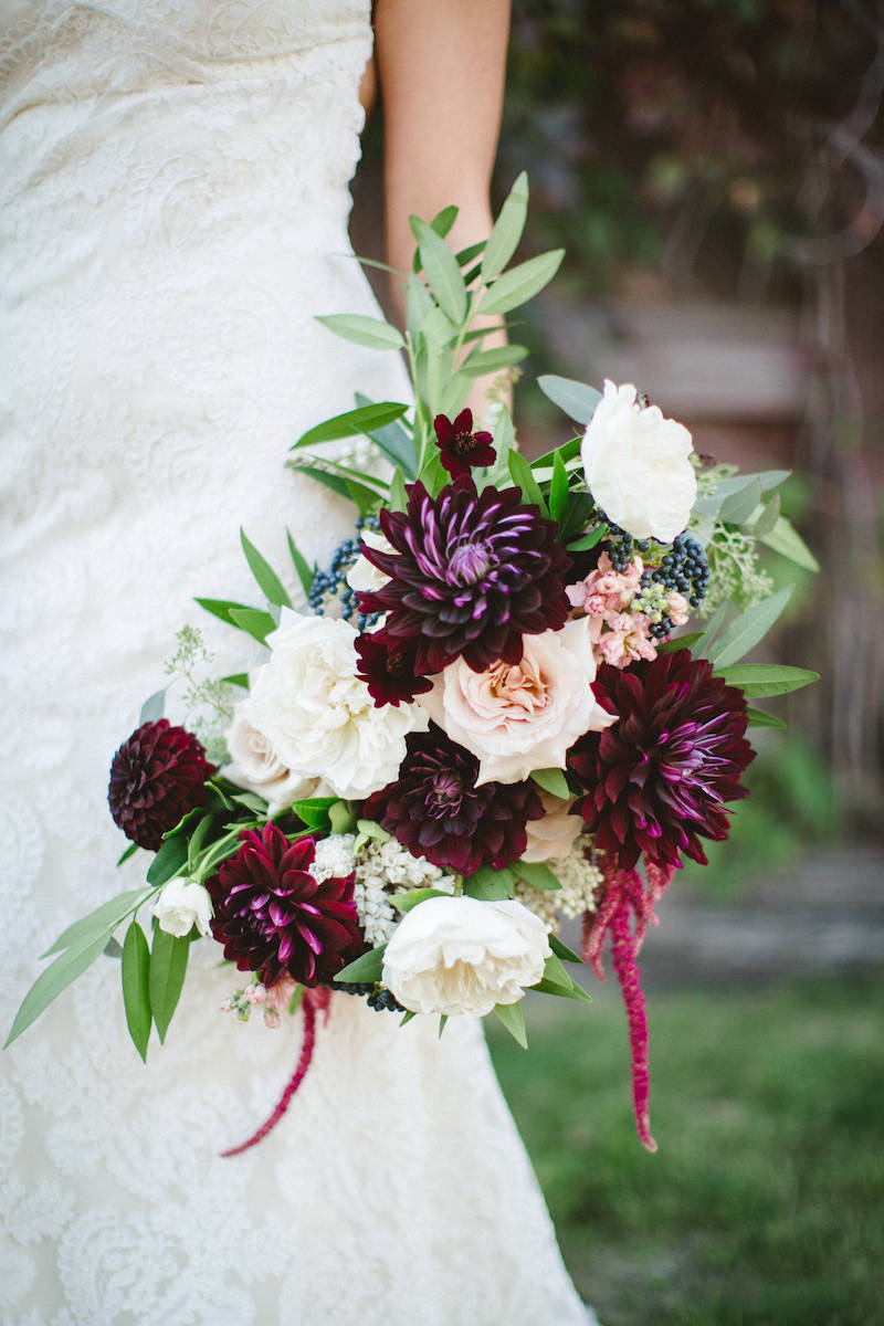 Floral fall color combos for wedding