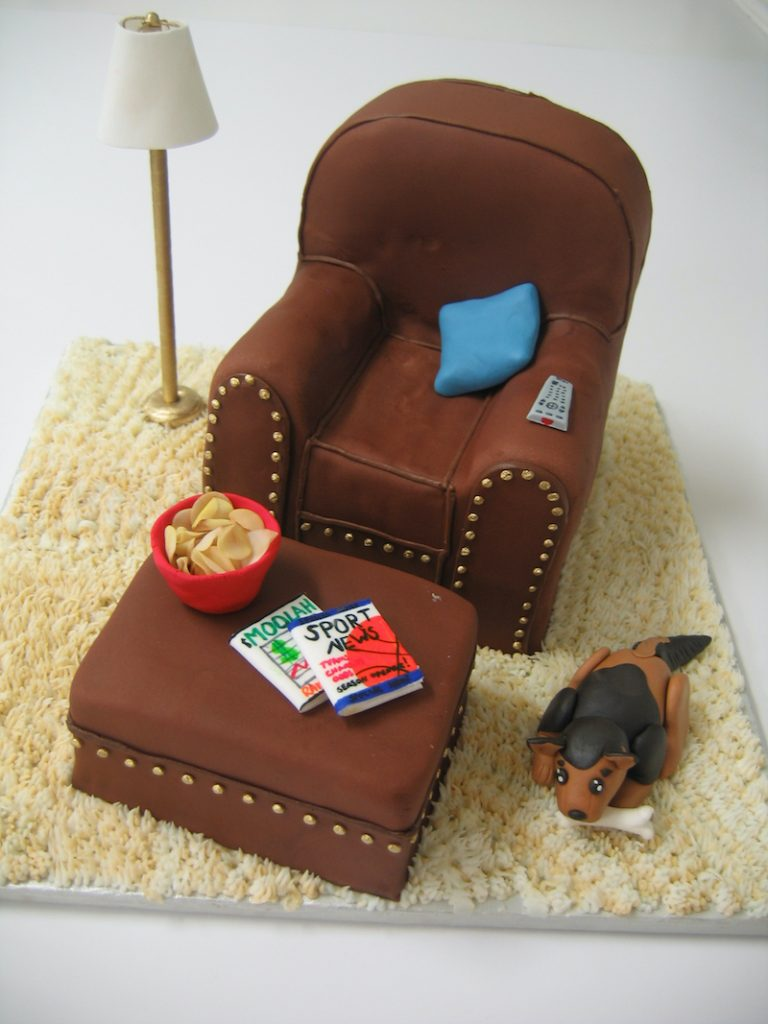 Couch potato groom's cake by Classic Cakes