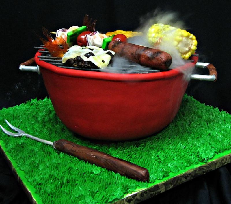 Bar-b-que groom's cake by Classic Cakes
