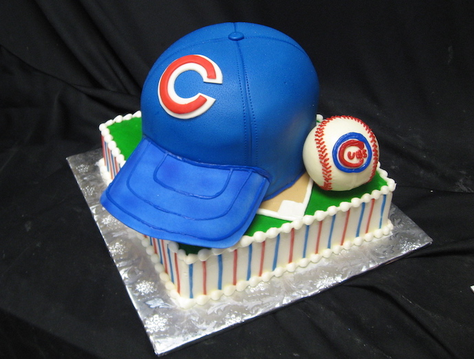 Chicago Cubs groom's cake by classic cakes