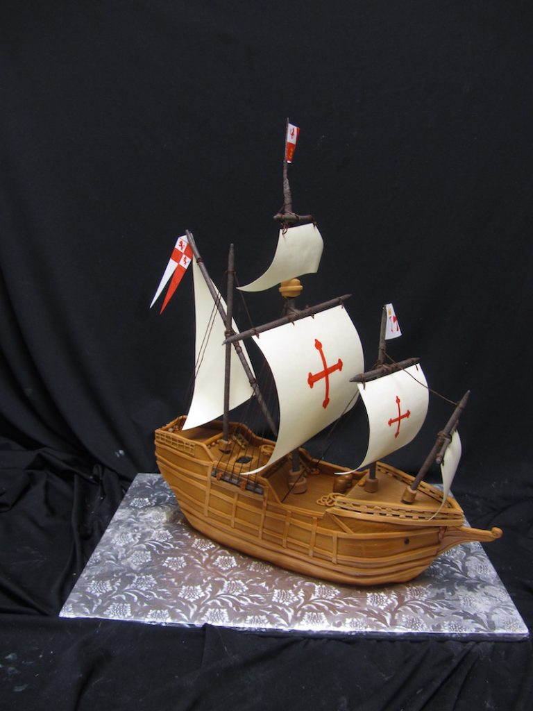 Pirate ship groom's cake