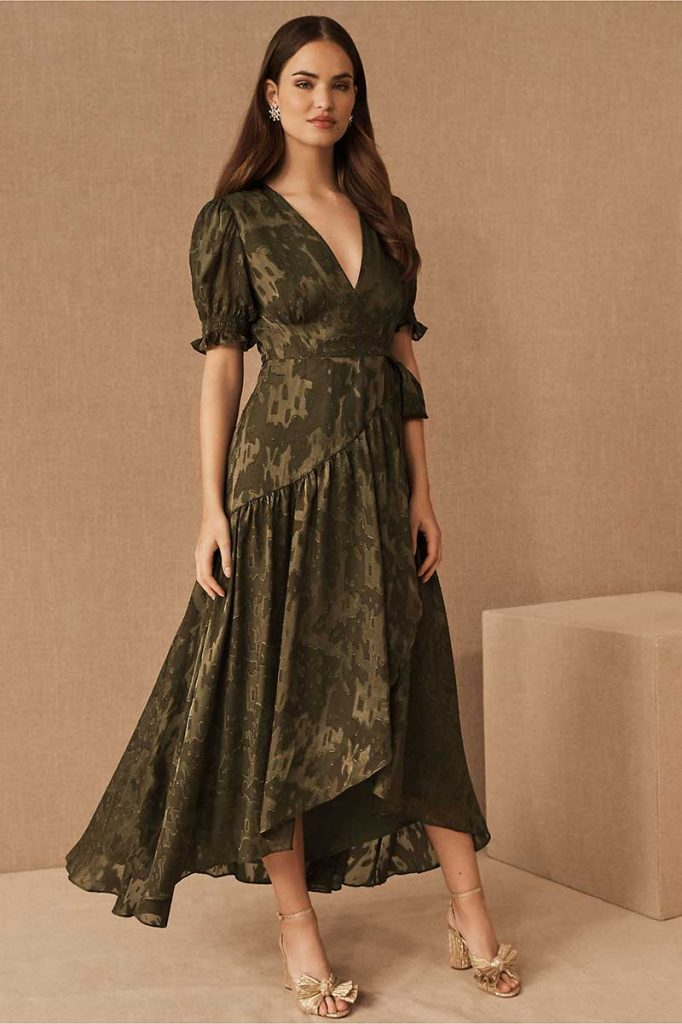Boho bridesmaids dress olive fall color combos