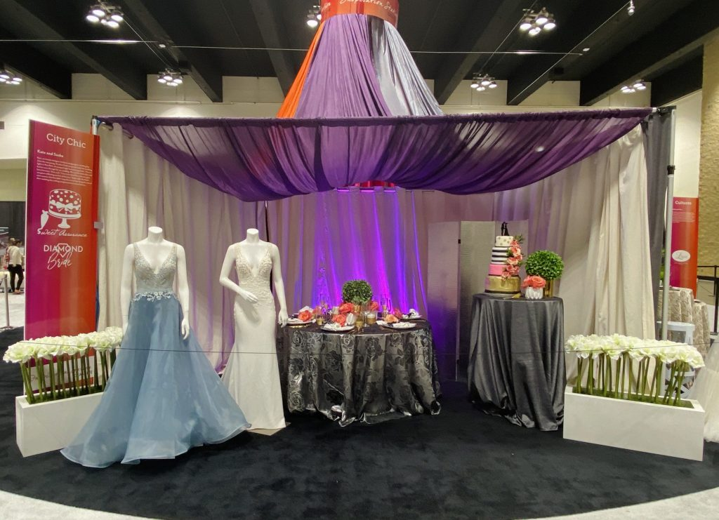Kate Spade themed wedding set up at the 2020 Twin Cities Bridal Show
