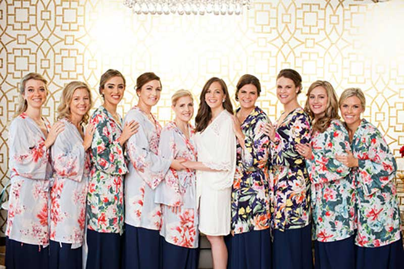 Bridal party gets ready with wedding day makeup