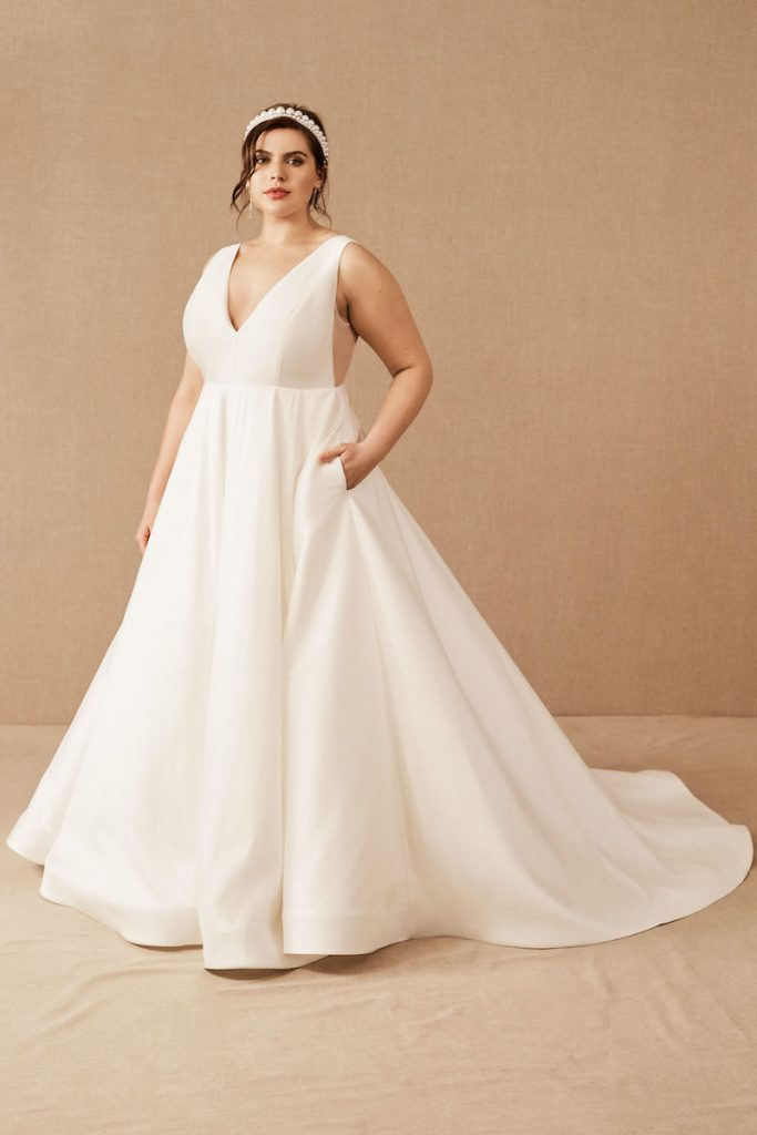 Taffeta gown Jenny Yoo Octavia gown for BHLDN Plus Size line