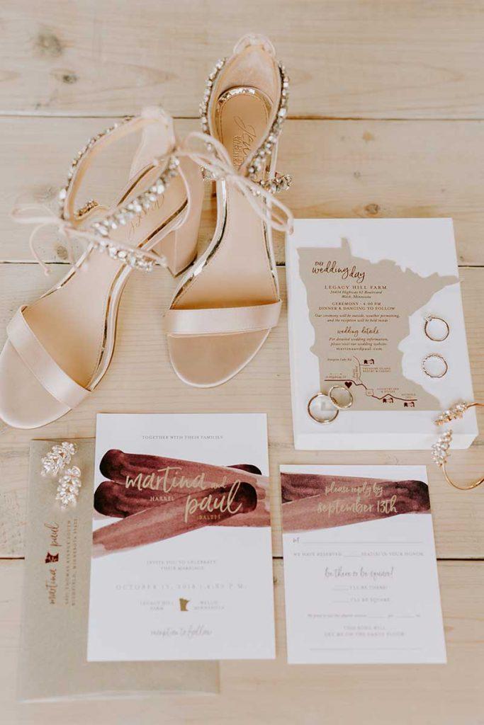 Custom fall wedding invitations by A Milestone paper