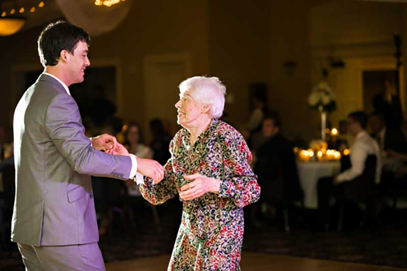 Groom honors grandparent with dance