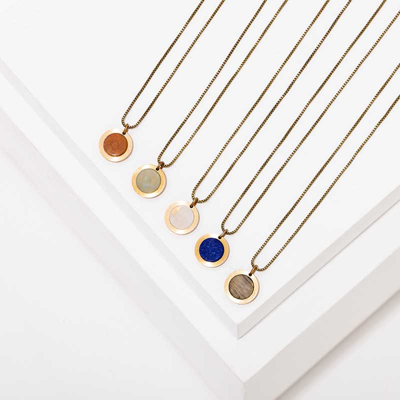 Minimalist necklaces by Larissa Loden