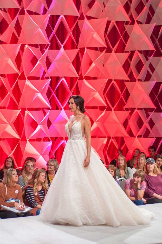 Model in bridal ballgown at Twin Cities Bridal Show Fashion Show