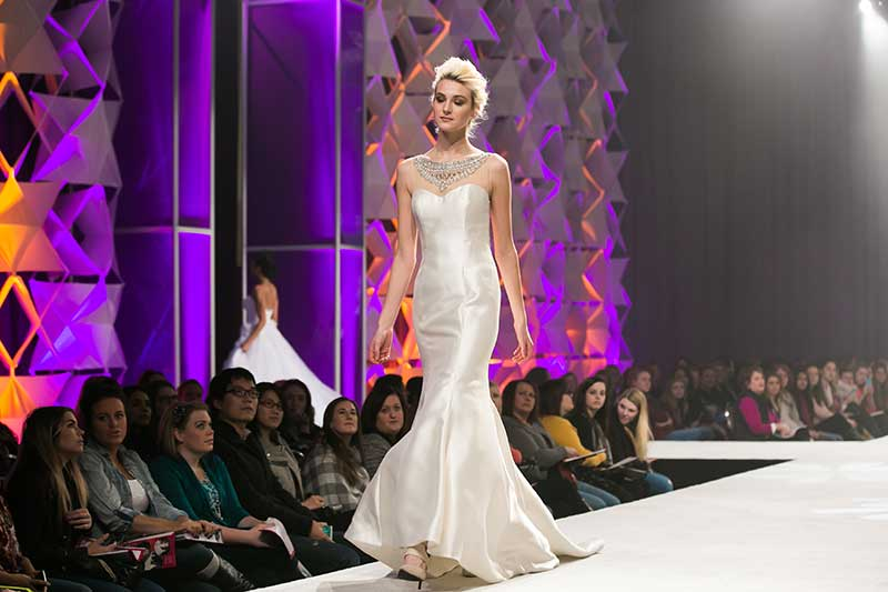 Mermaid gown at Twin Cities Bridal Show Aisle of Style