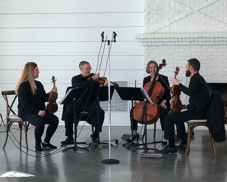 Minneapolis quartet Loring String Quartet practices for wedding