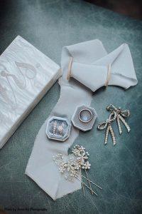 Gold and diamond bridal accessories